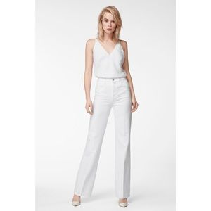 J BRAND JOAN HIGH RISE WIDE LEG WHITE JEANS SZ 30